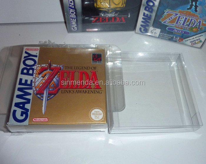 Crystal Clear case NINTENDO Game boy box Protectors