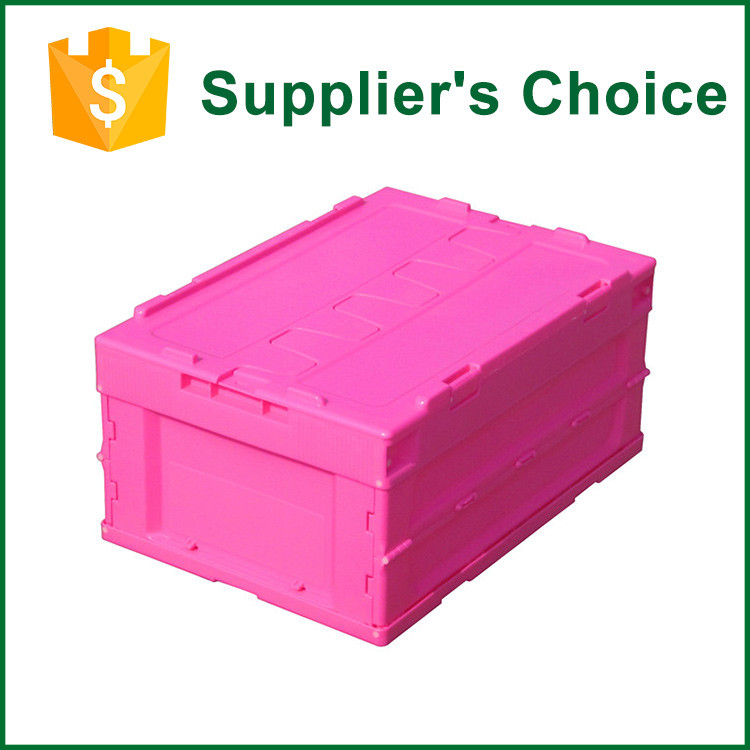 Printing Logo Stacking Plastic Folding Storage Bins