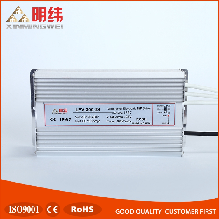 Professional 300v dc led wateproof switching power supply LPV-300-24