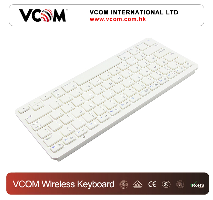 Guangzhou manuafacturer slim keyboard white ultra thin mini wireless bluetooth 3.0 keyboard