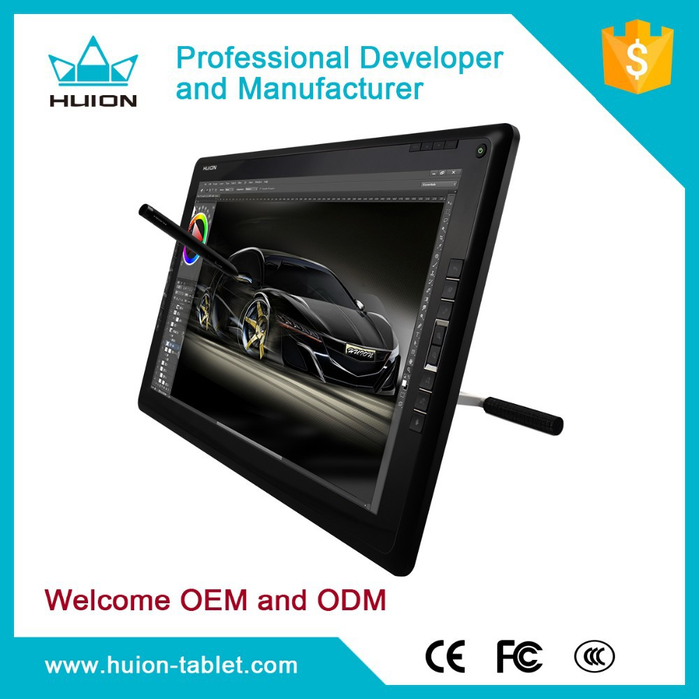 2015 New arrival! Huion gt-185HD digital Pen display drawing tablet monitor with express keys