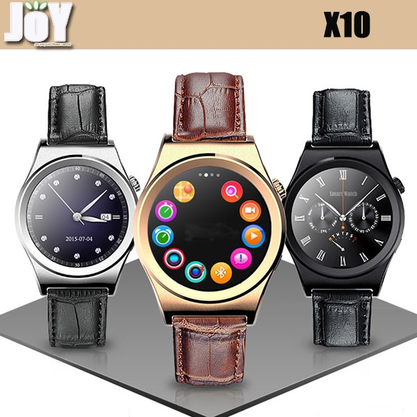 New Arrive X10 smart watch MTK2502C IPS screen support IOS Android bluetooth wifi hands free