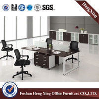 Dark brown oak color simple office partition/ workstation (HX-4PT058)