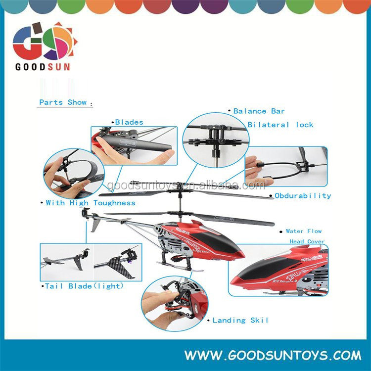 high speed radio control helicopter 3.5channel unbreakable radio control helicopter with gyro 017451