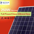 Hot sale 250W polycrystalline solar panel/panel solar/PV modules price per watt from China factory