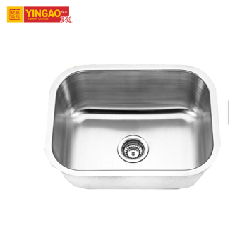 single bowl 201stainless steel kitchen sink with drain board