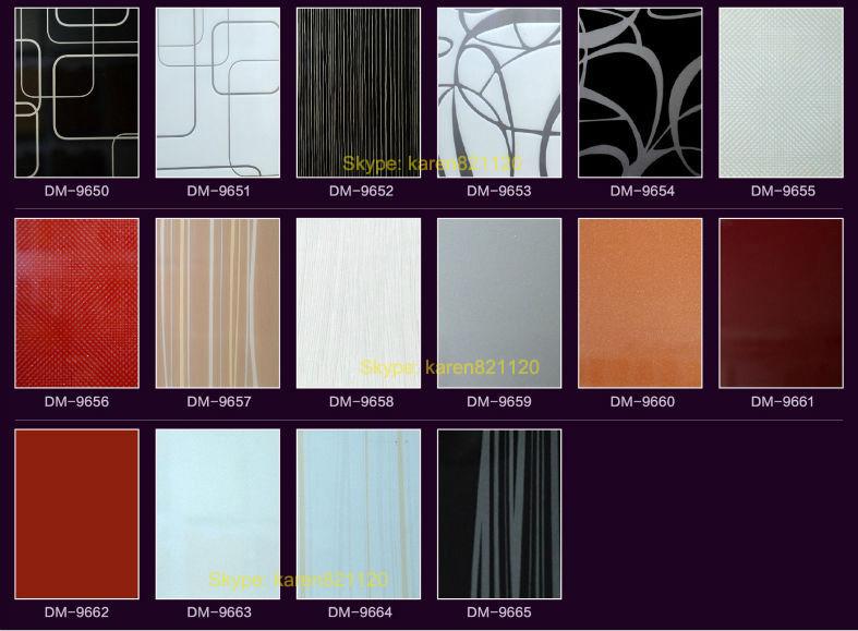 Dubai standard guangzhou foshan slab PVC vinyl wrapped kitchen ...