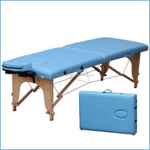 wooden 3 section folding massage table/massage bed with face hole,armrest,headrest