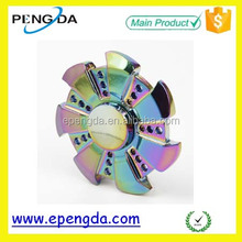 Wholesale high quality Aluminum colorful finger spinning top,finger gyro,wind spinner