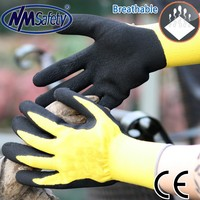 NMSAFETY 13 guage rubber garden gloves work protection gloves