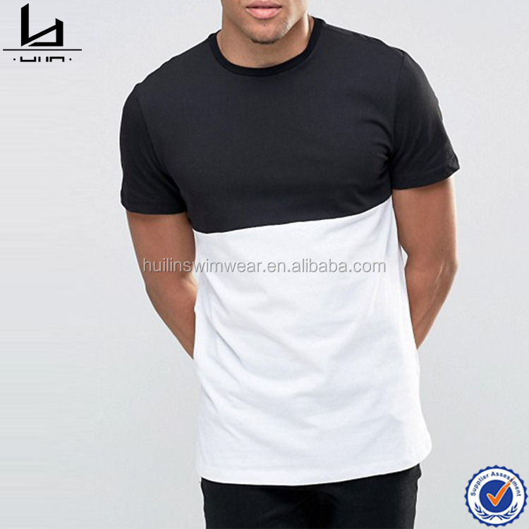 100% cotton hot sale China apparel black strong cheap t shirts men plain color tee shirt for men