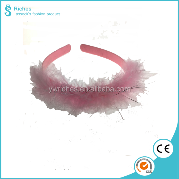 2017 Riches Simple Design Plastic Head band with Feather