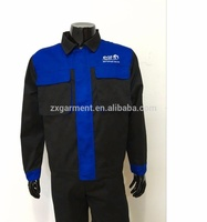 Industrial working suit with logo embroidery waterproof stain resistant working uniform pant with jacket