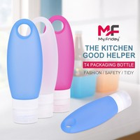 Fashion refillable soft squeeze leak-proof non-toxic bpa free silicone cocktail mix bottle