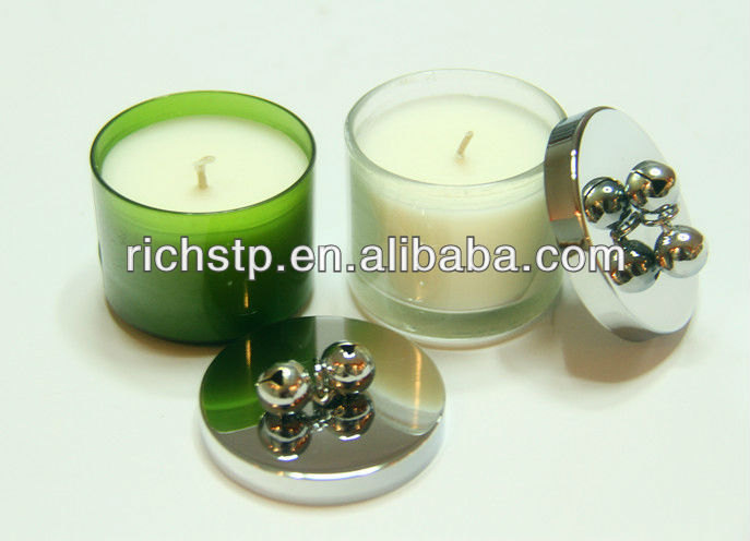 54mm Chrome plating candle lid with bell
