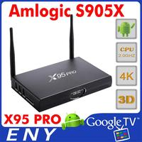 drm receiver az america for android tv box x95 pro with s905x quad core 2G+16G smart tv box