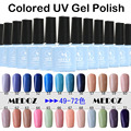 2014 HOT nail art Colored UV Gel Polish,15ml/1KG soak off/ON-Step soack off color uv gels,120 fashion colors NO. 49-72