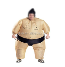 Inflatable Sumo Wrestler Costume Suit With Hat Fat Fancy Party Dress