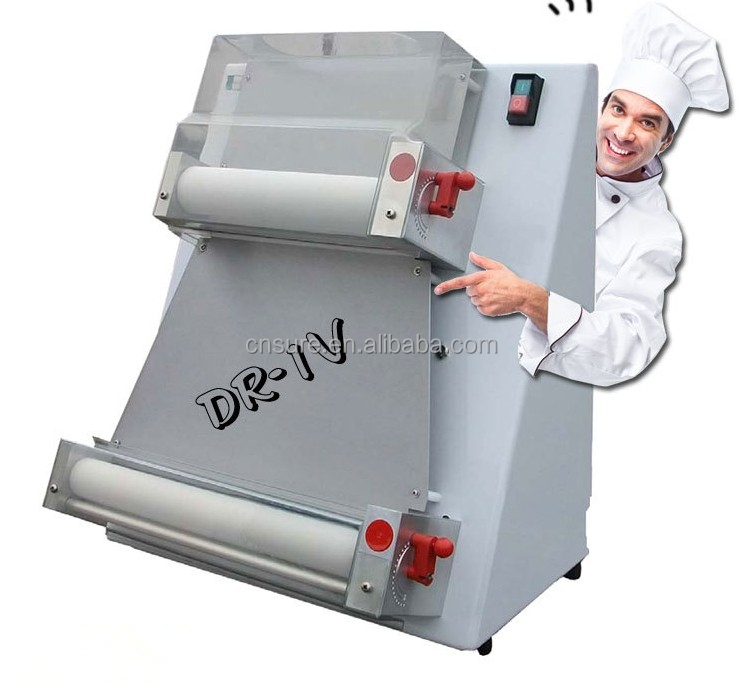 Adjustable high quality automatic pizza dough roller, pizza dough sheeter for bakery