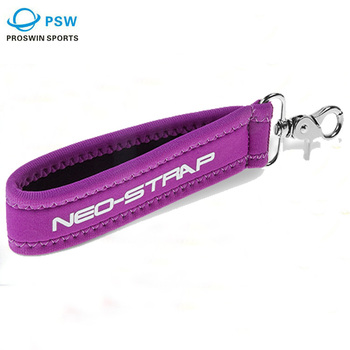 3mm wristband neoprene promotional key chain with metal dog hook