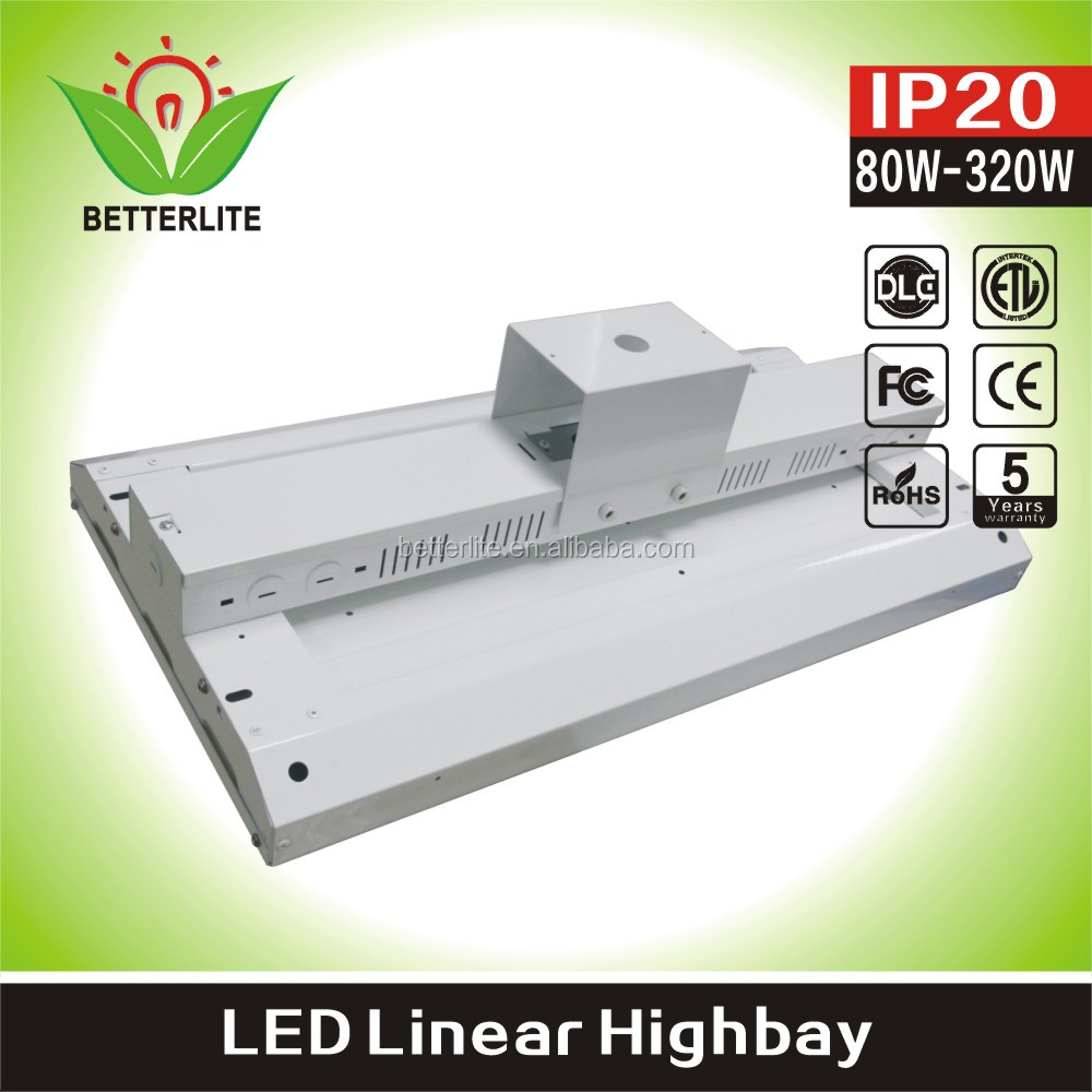 Unique designing Industrial new project lamp 80w 160w module design 4ft led high bay linear light