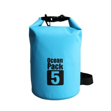 Outdoor Products Tarpaulin Swimming Waterproof Dry Bag PVC Backpack 5L For Kayaking / Beach / Rafting / Boating / Hiking