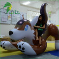 PVC Inflatable Timber Wolf Animal Toy , Inflatable Husky Cartoon For Sale