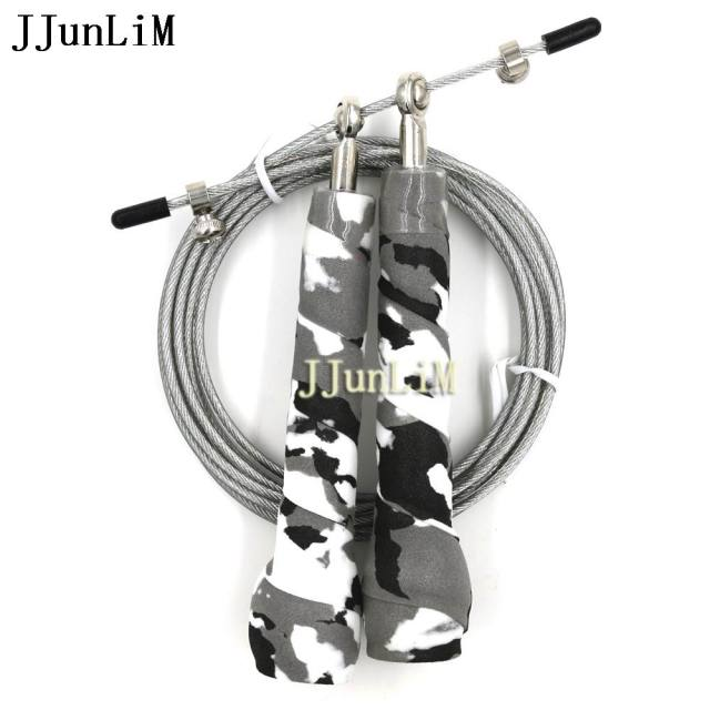 3 Meter sweat anti-skid Camouflage handle skipping rope Adjustable speed rope crossfit jumping rope jump training fitness boxer