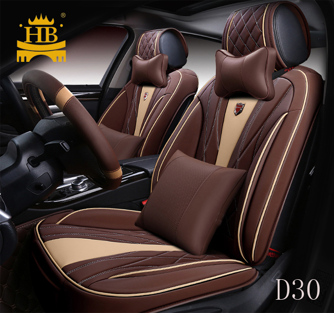 5pcs Full set  Leather Universal Car Seat Cover