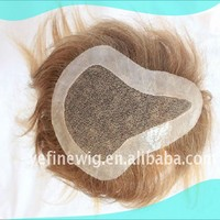 High Quality Full Handteied Lace Base PU Around Human Hair Cheap Toupee For Men