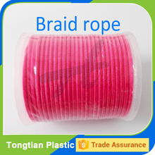 Red polyamide double braided rope