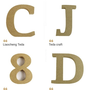Free Standing MDF White Wooden Letters For Crafts