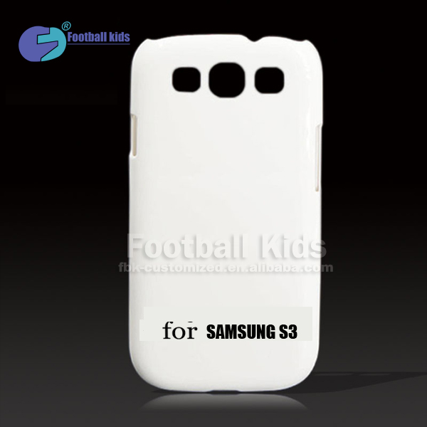 Sublimation colorful design 3d plastic blank Phone Case for samsung S3 I9300