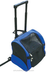 soft dog crate blue pet carrier with wheel
