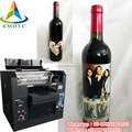 The inkjet UV led multi colors flatbed printer for the glass wine bottle IN 2018