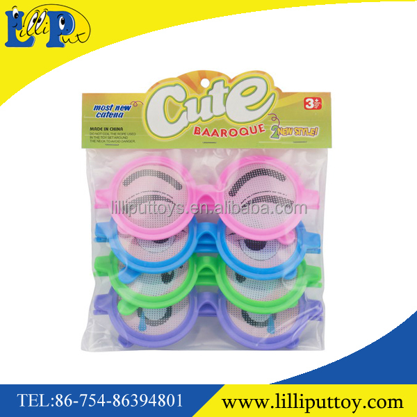 Newest design baaroque expression glasses toy for kids