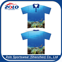 Cheap Price Custom Sublimated Polo T-Shirt With Knitting Collar