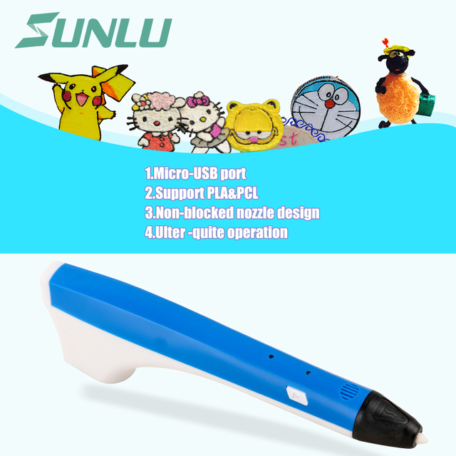 Hot Selling Kids Educational Diy Tool Arts Drawing 3D pen Magic Printer OLED Display