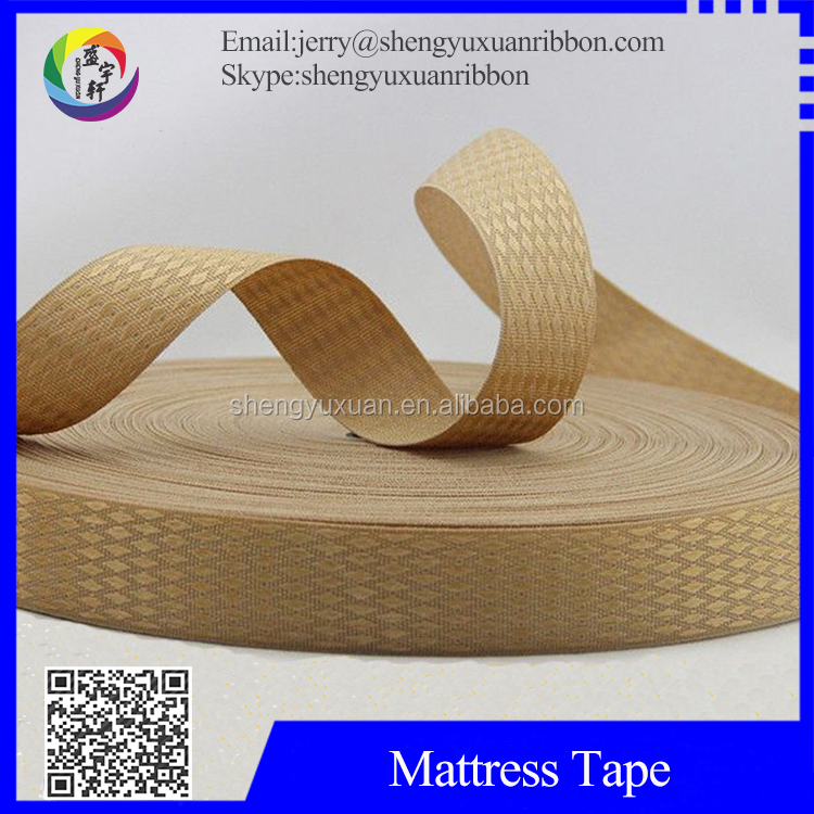 Polyester X pattern bedding furniture 42mm mattress tape(MT-W45)