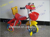 Cheap toy plastic baby tricycle for kid ride easyand safely