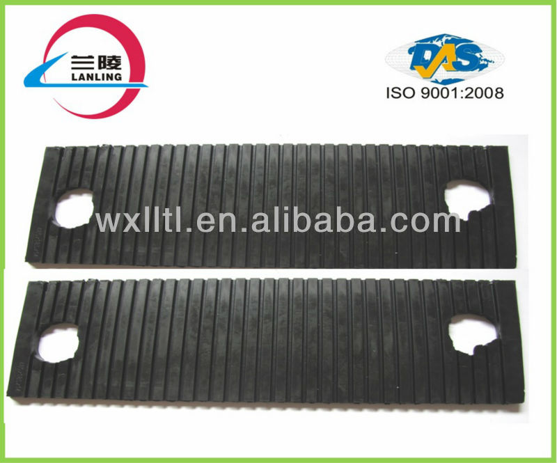 High quality grooved rubber pad used railroad uic 60