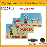 Novelty stationery promotional computer mouse shape mouse pads for schools