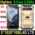 NEW 5 inch Android 7.0 Octa-Core 4G Rugged Smartphone, rugged mobile phone with NFC PTT