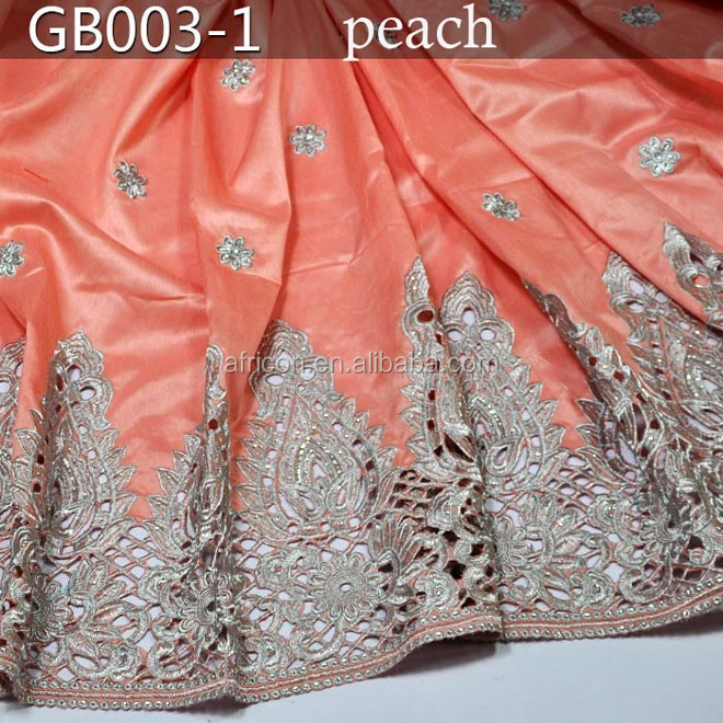 GB003-1 peach new design indian george lace fabric africna lace 2015