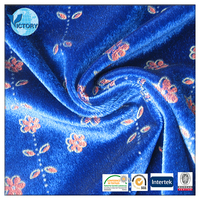 2015 high quality Pigment Print Velour Velvet fabric made of 100% Polyester