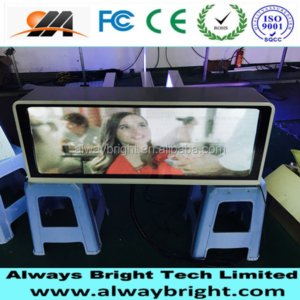 2015 New products P6 Taxi top led/taxi top led screen/advertising display for car