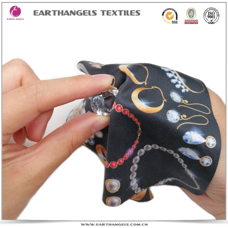 Sublimation printing microfiber jewelry cleaning cloths