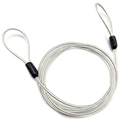 GuoFeng 3.0mm 7*7 Clear Transparent PVC Stainless Steel Cable With Double Loops