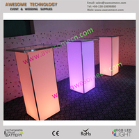led glowing event cocktail table / acrylic led cocktail high bar table (TA110A)