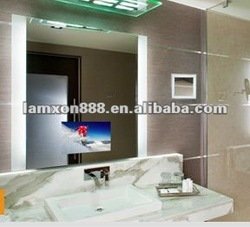 Popular style European and USA LED lighting TV bathroom mirrors with remote controller
